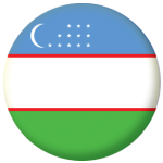 Uzbekistan Country Flag 58mm Button Badge